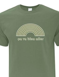 T-Shirt Ça va Bien aller Vert Militaire
